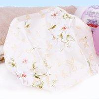 Wholesale New Lovely Multi Pattern Women Waterproof Elastic Shower Bathing Bouffant Hair Cap Hat Home Essential