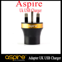 aspire ac adapter - 100 Authentic Aspire AC DC Adapter UK USB Charger E Cig Wall Charger Black Aspire A C Adaptor for Electronic Cigarette In stock