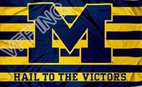 big banners - University of Michigan Flag NCAA Big Ten Conference ft x ft Polyester Banner Flying cm Custom flag sport helmet MU10