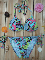 Wholesale new design high quality foreign trade explosion models of green Bohemia Bikini swimsuit Triangle Bikini Sets
