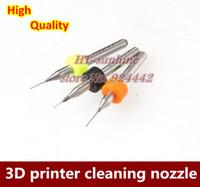 Wholesale Sets D printer makerbot mendel reprap cleaning nozzle drill mm mm mm for MK7 or MK8 nozzle order lt no track