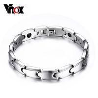 Wholesale High quality stainless steel black stone bracelet for men magnet bracelet jewelry for women men bangle Christmas party gift