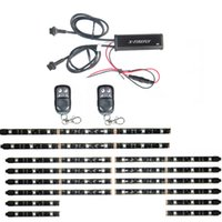 Wholesale 14Pcs All Color Flexible Led Strips Remote Control ATV Motorcycle Accent lights Color Kit