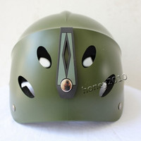 Wholesale Cycling Helmets Safety PVC Paratrooper Helmet Paratrooper Helmets Outdoor Riding Helmet Army Green Durable Protection Caps