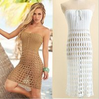 knit wear - Women s Wool knitting Weddings Dresses New Club Strapless Party Dress Sheer Backless Sexy Dresses Hollow Out Hot Lace Up Night out Dresses