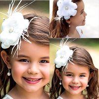Wholesale New Flower Girl Hair Accessories Children Tiaras Fashion Hair Flowers Wedding Dress Accessories Girls Cute Flower Princess Headwear CPA405