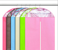 Wholesale 10Pcs Best Price Clothes Suit Dress Garment Dustproof Cover Bag Storage Bags Thicken Bag Clips Housekeeping Style