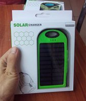 Wholesale Real mah Solar Charger charger for iphone all ceephone MP3 ipad Ports portable power bank DHl free high quality solar charger power