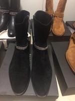 Wholesale High End Customized SLP paris Genuine Leather Qing zhilong suede fashion Chelsea boot