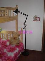 Wholesale Brief long arm otlan living room floor lamp bedroom floor lamp photography light study light mahjong table lamp