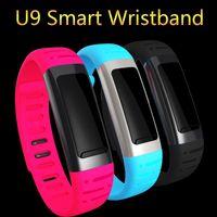 Wholesale New Hot Smart Band U9 Bluetooth Smart Bracelet Sport Wristband Fitness Tracker Pedometer Waterproof Smart Wear for IOS Android