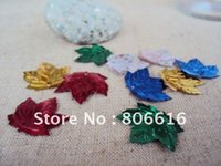 Wholesale 20MM Leaf Mixed Colors Pvc Spangle Sequins Paillette Spinnerbaits Costume Jewelry Accessory