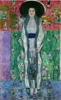 Oil Painting art bauer - Art Painting Gustav Klimt oil on Canvas MRS ADELE BLOCH BAUER II CIRCA Room decoration Hand painted High quality