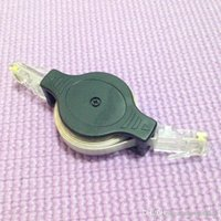 Wholesale Retractable Network Cable Portable RJ45 Connector m Transparent Clear See Through Wires Cables Orc