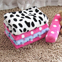 Wholesale 2016 New Winter Warm Pet Mat Blanket Thicken Soft Flannel Thermal Warm Printing Cat Dog Cushion Warm Blanket For Pet Kennel Bed