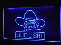 Blue Office  LE116-b Bud Light George Strait Bar Pub Neon Light Sign home decor shop crafts led sign