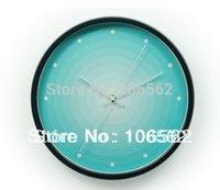 aluminium wall clock - digital wall clock new available home garden Waves gradient Creative fashion aluminium sitting room wall clock