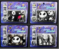 Wholesale Christmas gifts for children hot boys girls nightmare before christmas purse and watch kids Wristwatch wallet top quality DHL free