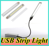 Wholesale 15 LED USB Portable Strip Lamp Light Desktop Lighting for Traveling Camping USB Cable and Power Bank are not Included