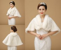 fur - Ivory Winter Wedding Dress Bolero Bridal Fur Wraps Warm Frozen Snow Wedding Jackets