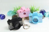 achat en gros de photo porte-clés numériques-LIVRAISON GRATUITE par DHL 200pcs / lot plastique LED New 3D appareil photo numérique a formé des porte-clés avec des porte-clés sonore Toy nouveauté pour les enfants