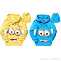 Wholesale Hot Sale despicable me minion boys girls nova shirts child Spring hoodies Tops Tee Baby Sweatshirts Coats Spring Autumn Kids Clothing