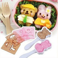 baby rice cakes - new lovely couple gift Dress up doll rice cake mould set baby sushi rice balls bentos mould