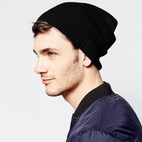 asos women - New Beckham Hats Warm ASOS Beanie Knitted Wool Cap Male Womens Oversize Beanie Stylish Winter Hats Sport