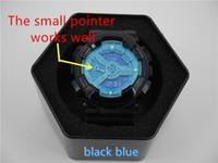 al por mayor de calidad superior del reloj digital-Los relojes de los deportes de los hombres de la caja del relogio G * 110 de calidad superior, reloj de lujo de los hombres de la marca de fábrica reloj del cronógrafo del LED, reloj militar, reloj digital