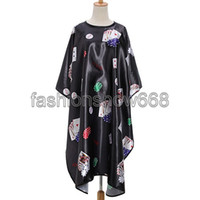 Wholesale 2016 Poker Printed Cloth Salon Hairdressing Hairdresser Hair Cut Cutting Gown Barbers Cape Waterproof Wrap
