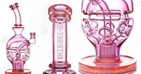 Wholesale Pink Fab Egg Ball Thick Glass Bongs Recycler Dab Rigs Water Pipes Function Glass Bong Smoking Pipe Hookahs mm Join Cheap