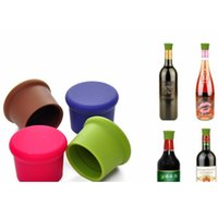Wholesale 2015 New Style Silicone Wine Bottle Stoppers Approved Food Grade Silicone Durable Flexible Wine Bottle Stopper Colors