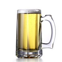 beer stein handle - 12 Price No Lead Beer Glass Cup w Handle Beer cerveja capos Juice Tea Tumbler ml Drink Cup Tankard Mug order lt no track