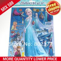 Wholesale ALL x9 Sheets MIXED DESIGNS STICKERS FROZEN STICKER PVC STICKER