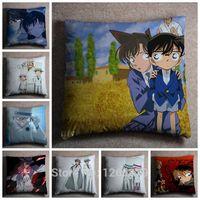 anime dakimakura pillow - Hot Sale Detective Conan Printing Japan Anime Hugging Dakimakura Cover Square Pillow Case Peach Skin cm