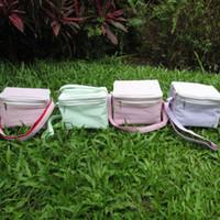 Wholesale seersucker lunch bag cooler bag in six different beautiful colorsseersucker food carrier DOM103032
