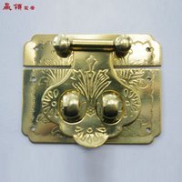 Wholesale Chinese antique copper collar win makeup wooden box lock buckle buckle YLYD322 CM