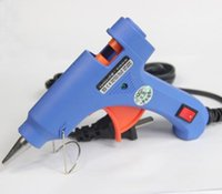 Wholesale 10 DIY Blue Electric Heating Hot Melt Glue Gun Sticks Trigger Art Craft Repair Tool