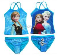Wholesale Elsa anna prince Baby Girls Swimear Kids Cartoon Swimmer Bather Swim Set Children Girls Snow Queen Beach Wear Childs Girl Separate Suit
