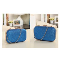 Wholesale New Fashion Womens Chain Retro Hard Glitter PU Clutch handbags Dinner Clutch Handbags H9896