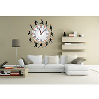 basketball bedroom sets - Lowest price Beautiful Large Scale Clock Basketball Silhouette Stickers PVC Wall Sticker For Bedroom Living Room Home Decoration order lt no