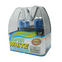 achat en gros de voiture h4 cacha-New 2Pcs Xenon HID H4 Super White Car Styling Phare Ampoule halogène 12V 55W / 100W 6000K