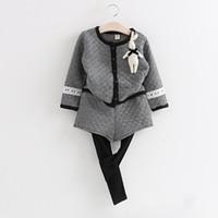 Wholesale 2015 New Baby Girl Rompers Suit Girl Infant Suits Plaid Print Jacket Pants Leggings Kids Princess Children Sets Clothes