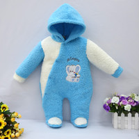 Wholesale 2016 coral fleece jumpers cardigans boy jumpers rompers christmas Long Sleeve One Piece jumpersuit winter christmas romper Xmas baby clothes