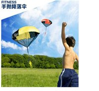 Cheap Wholease Novelty Games 240 Parachute with Figure Soldier Toy for Kids Children Outdoor Sport Color send random