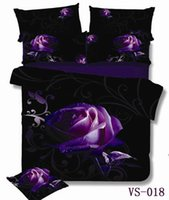 3d bedding set - 6 pieces per set Absolutely Beautiful Purple Rose and Print D Bedding Set very New
