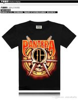 band t shirts cheap - mens short sleeve o neck PANTERA music band print T shirts cheap with S XXXL size t shirt