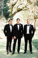 Cheap Fashion 2015 Black custom made wedding suits for men Groom   Groomsmen Tuxedos men wedding suits (Jacket+Pant+Tie) Tuxedos