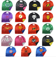 Wholesale Adult Cosplay superhero capes customize Superman Spiderman Batman Ironman cm Double layer Adult capes styles by DHL