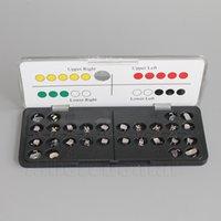 Cheap 1 Kit (20pcs Brackets + 8 Tubes) Dental Orthodontic MIM Metal Bracket Mini Roth 0.018 3 4 5hooks